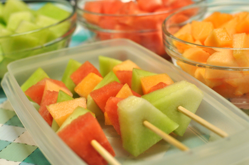 Picnic Food - Melon Kabobs